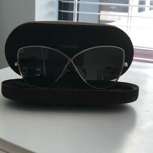 TOM FORD Elise Cat Eye Sunglasses Gold / Brown